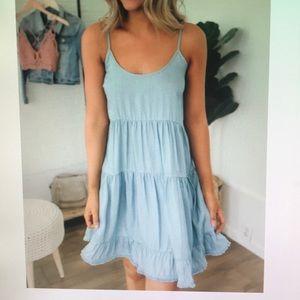Dresses & Skirts - Tiered ruffle blue dress